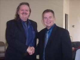 Me and my friend Pastor Mark Ellis at the Upper Room church.